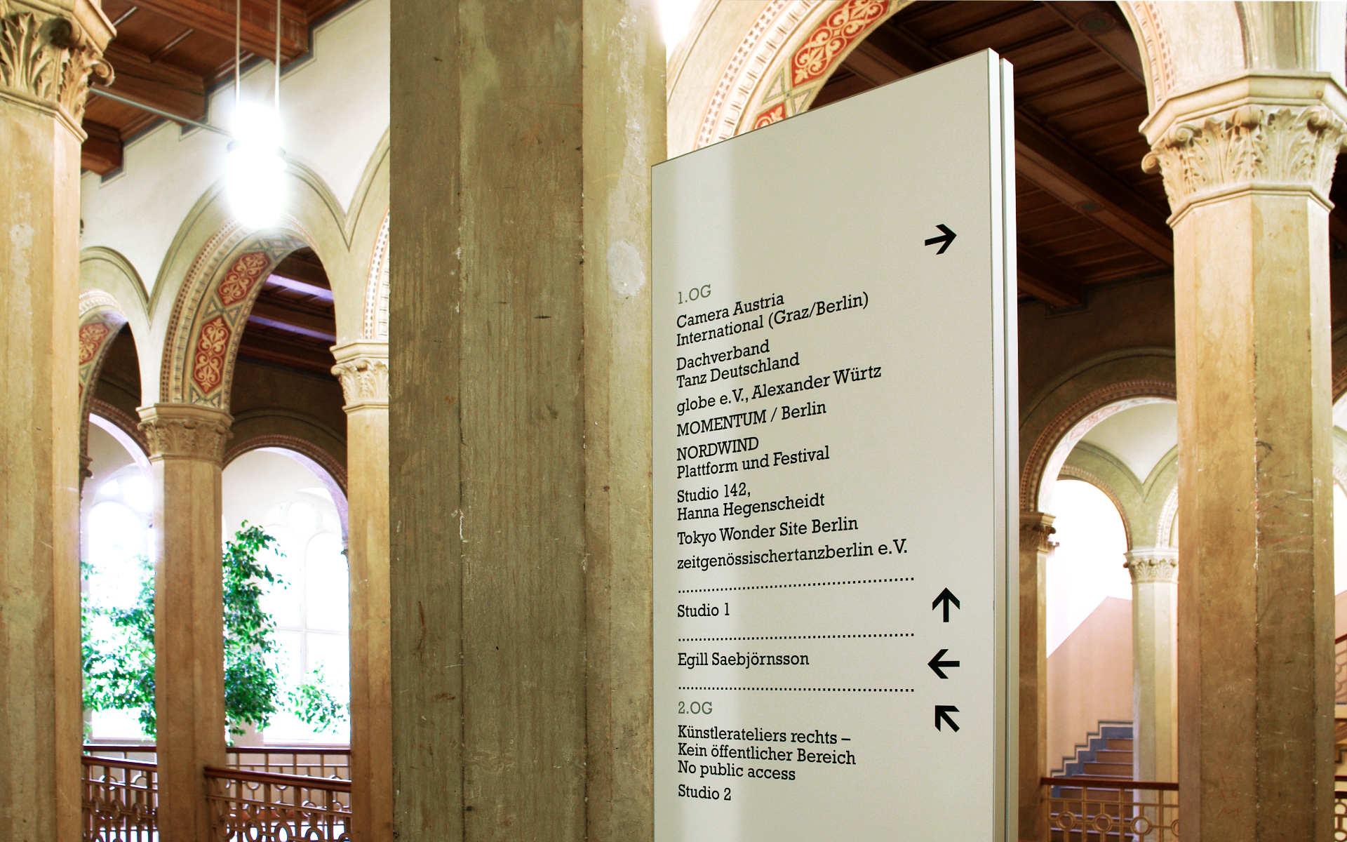 Kunstquartier Bethanien Leit-und Informationssystem Berlin