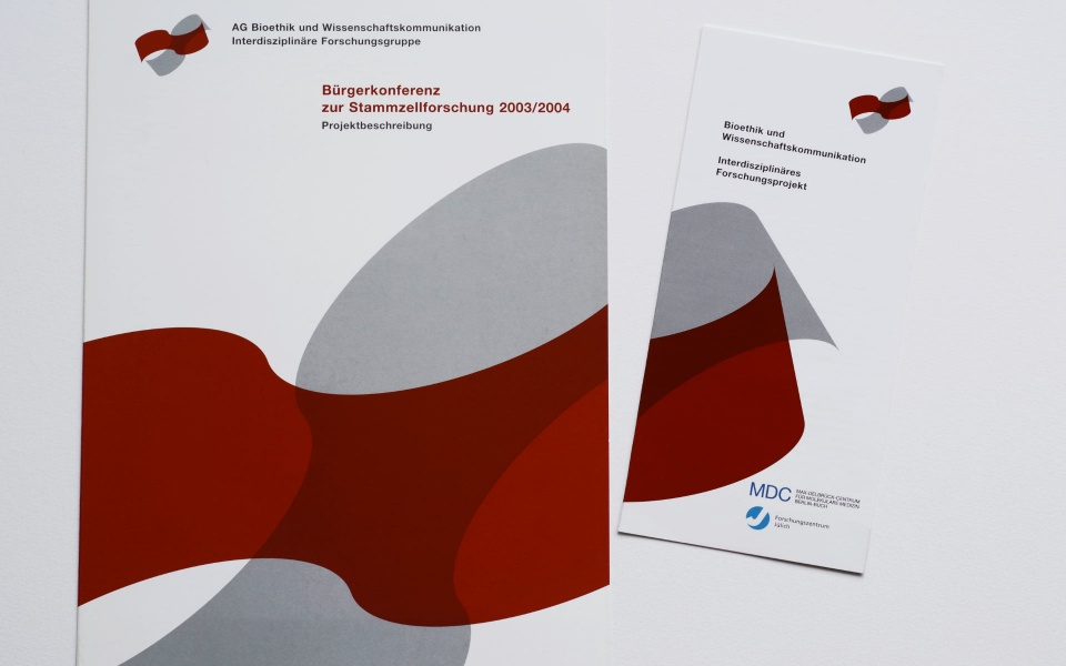 MDC Max Delbrueck Centrum Logoentwicklung Broschueren Plakatgestaltung