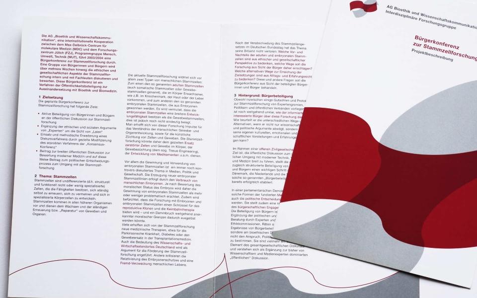 Max Delbrueck Centrum Informationsbroschueren Kommunikationsdesign