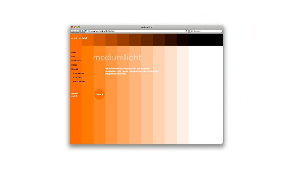 Mediumlicht Lichtplaner Webdesign
