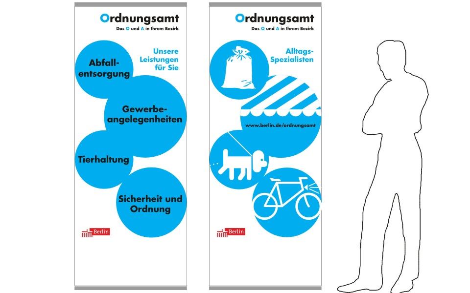 Ordnungsamt Aktionsstand Pressestand Stele Grafik Design
