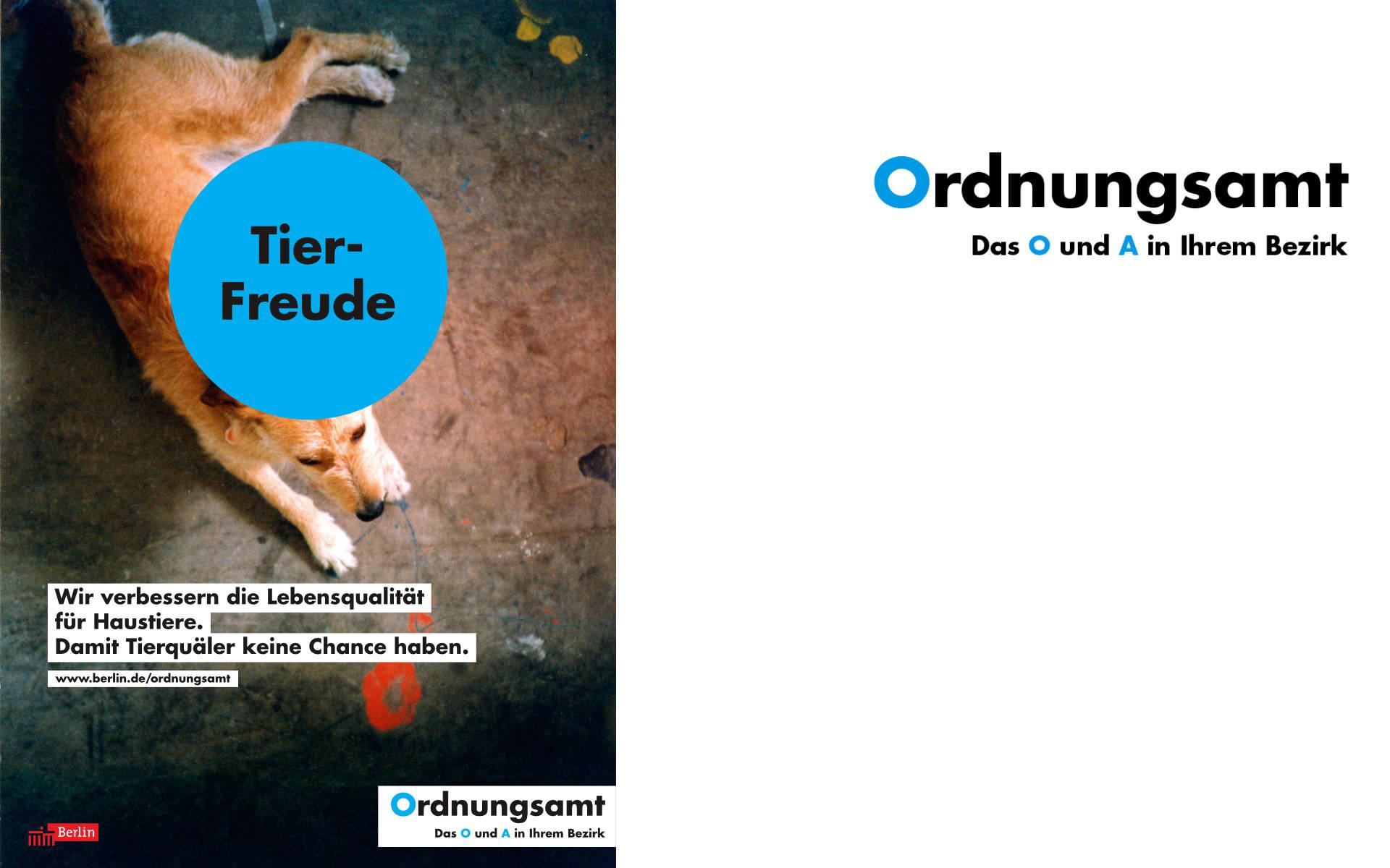 Ordnungsamt Plakat Kampagne Design
