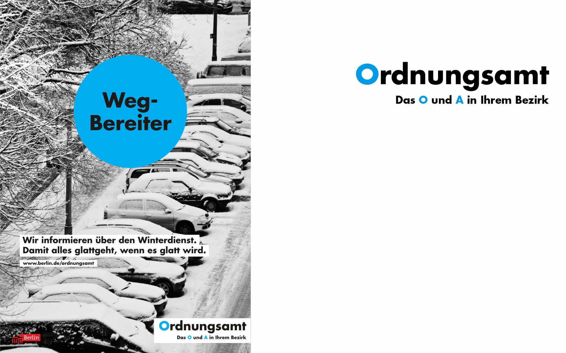 Ordnungsamt Plakatkampagne Grafik Design