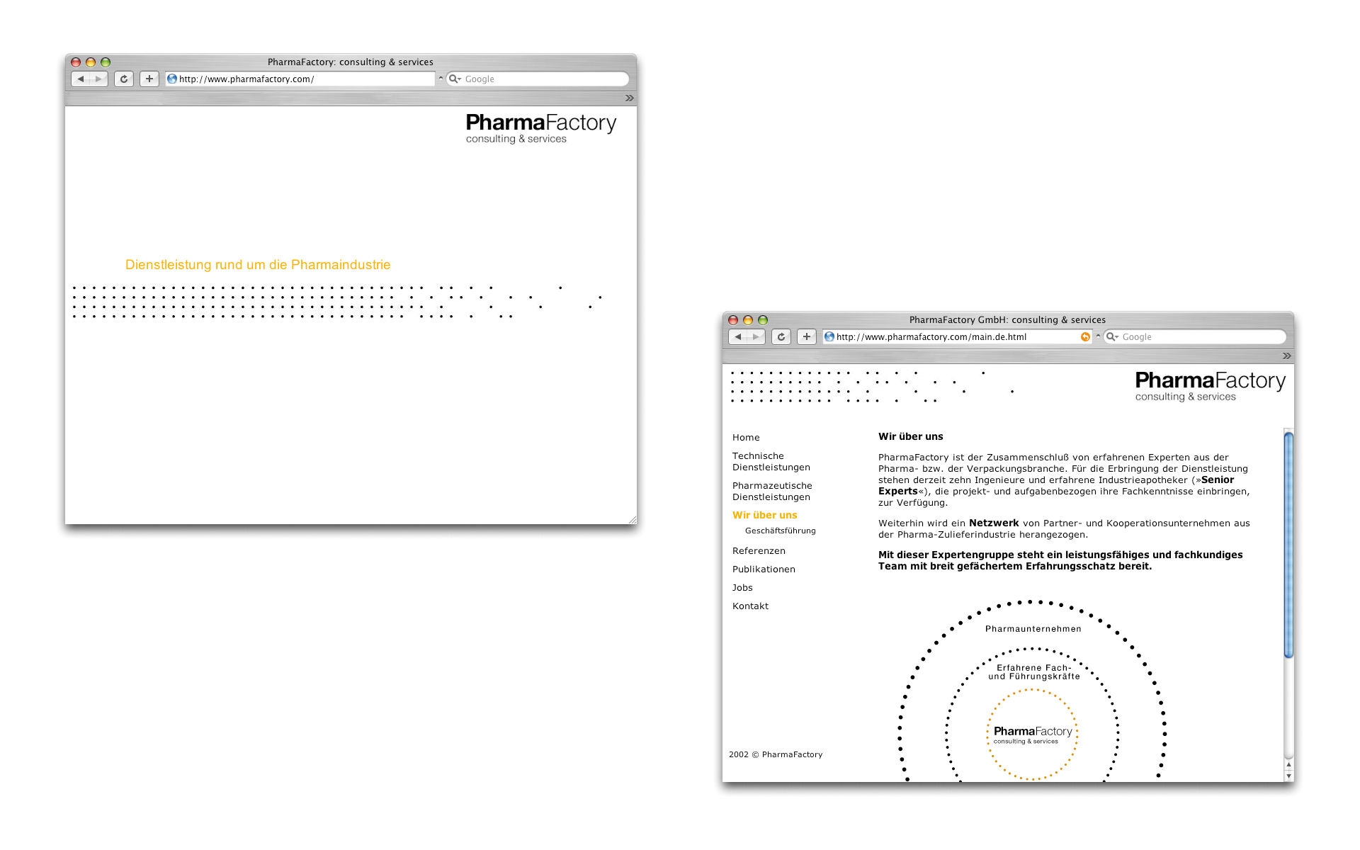 Pharma Factory Webauftritt Webdesign Berlin