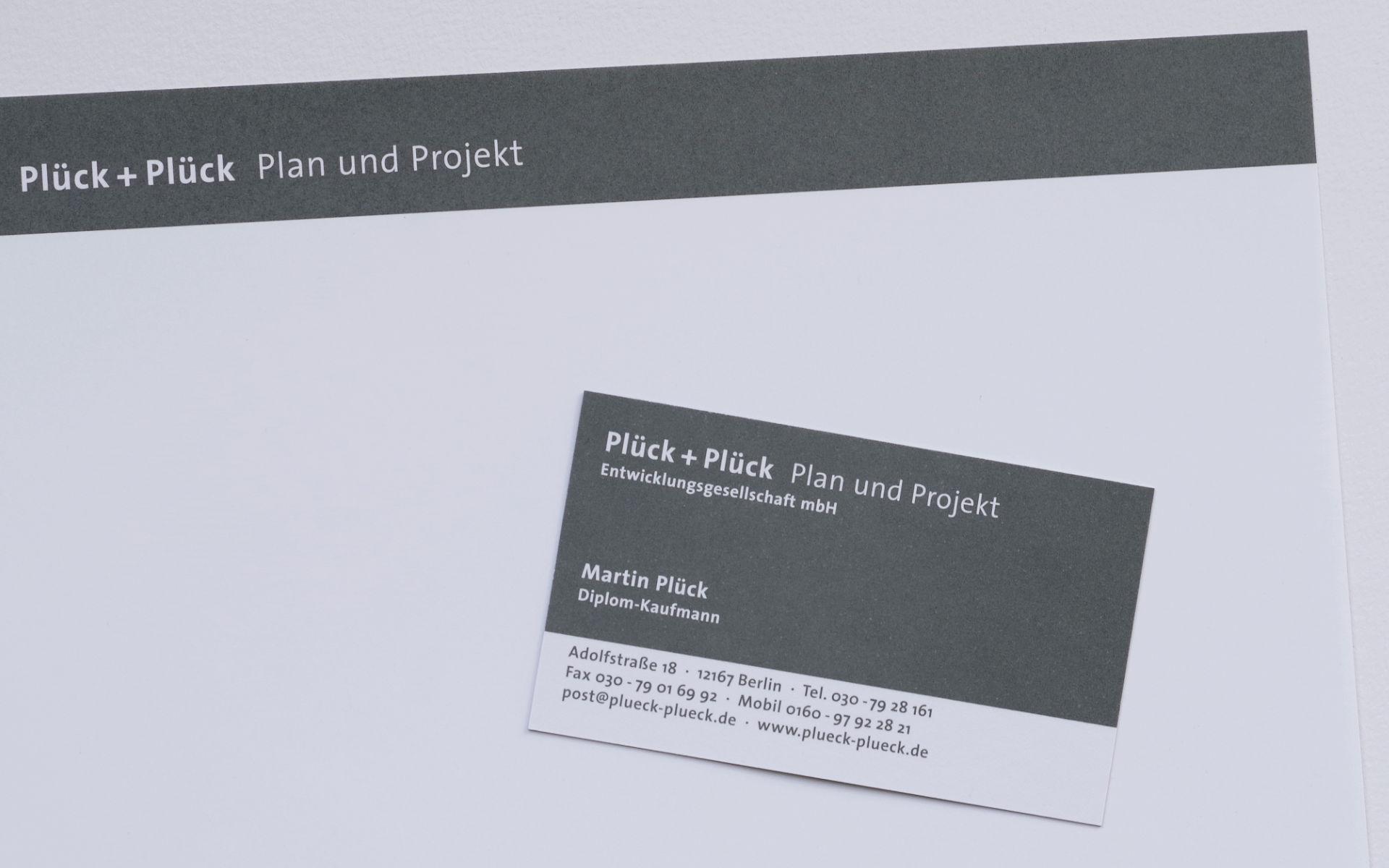 Plueck Plueck Erscheinungsbild Visitenkarten