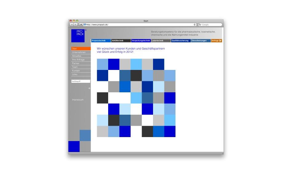 Propack CMS Webauftritt webdesign Website