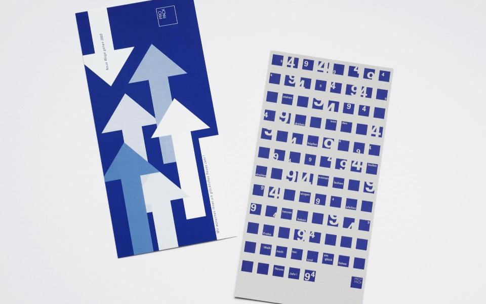 Propack Neujahrskarten Corporate Design Berlin