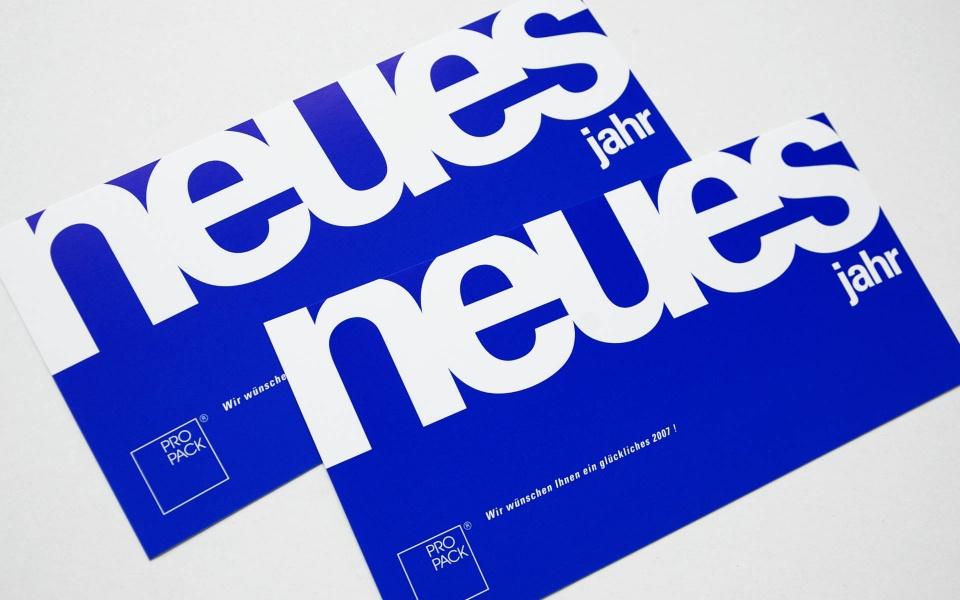 Propack Postkarten Neujahrskarten Erscheinungsbild Berlin