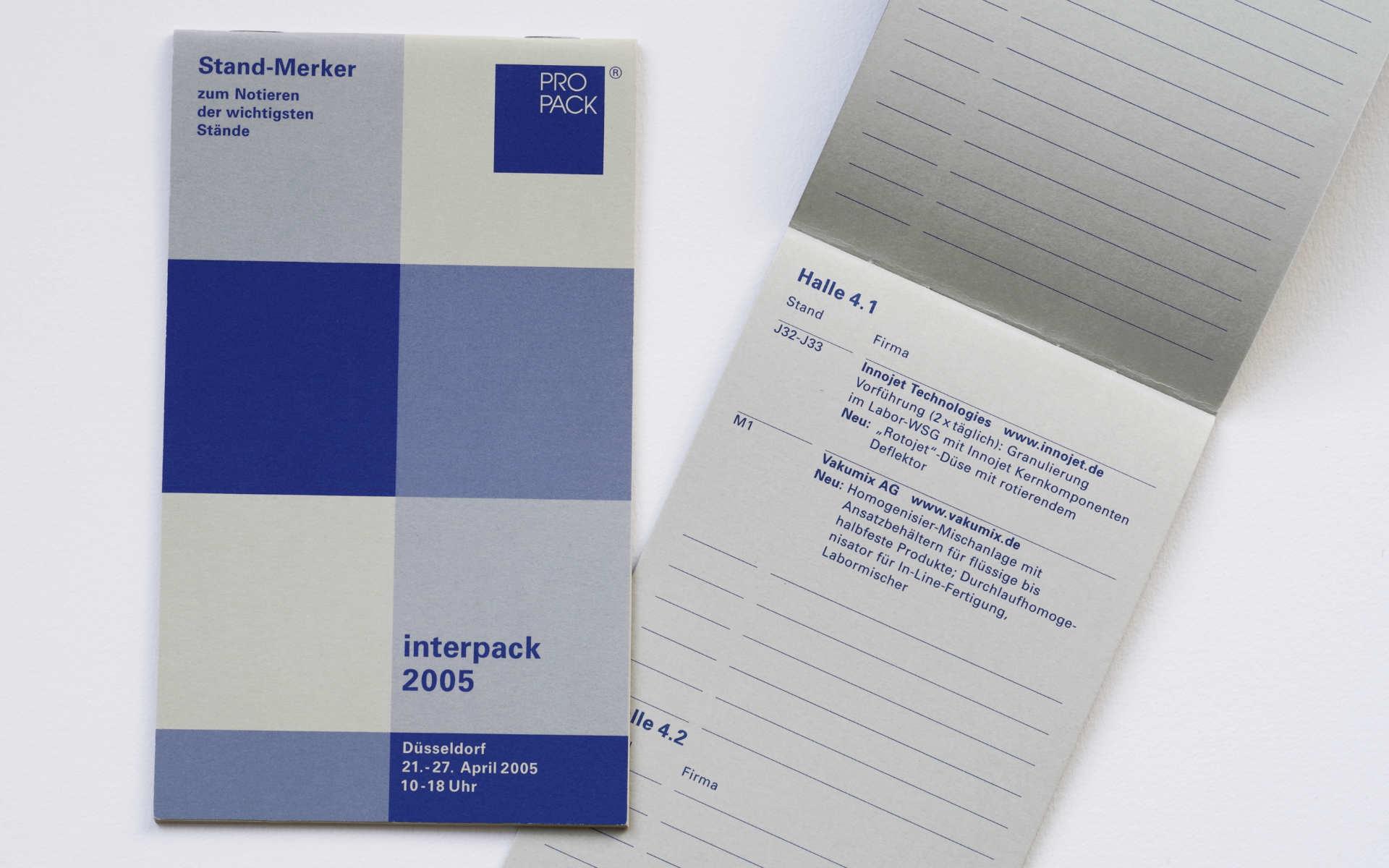 Propack Standmerker Broschuere Grafik Design Berlin