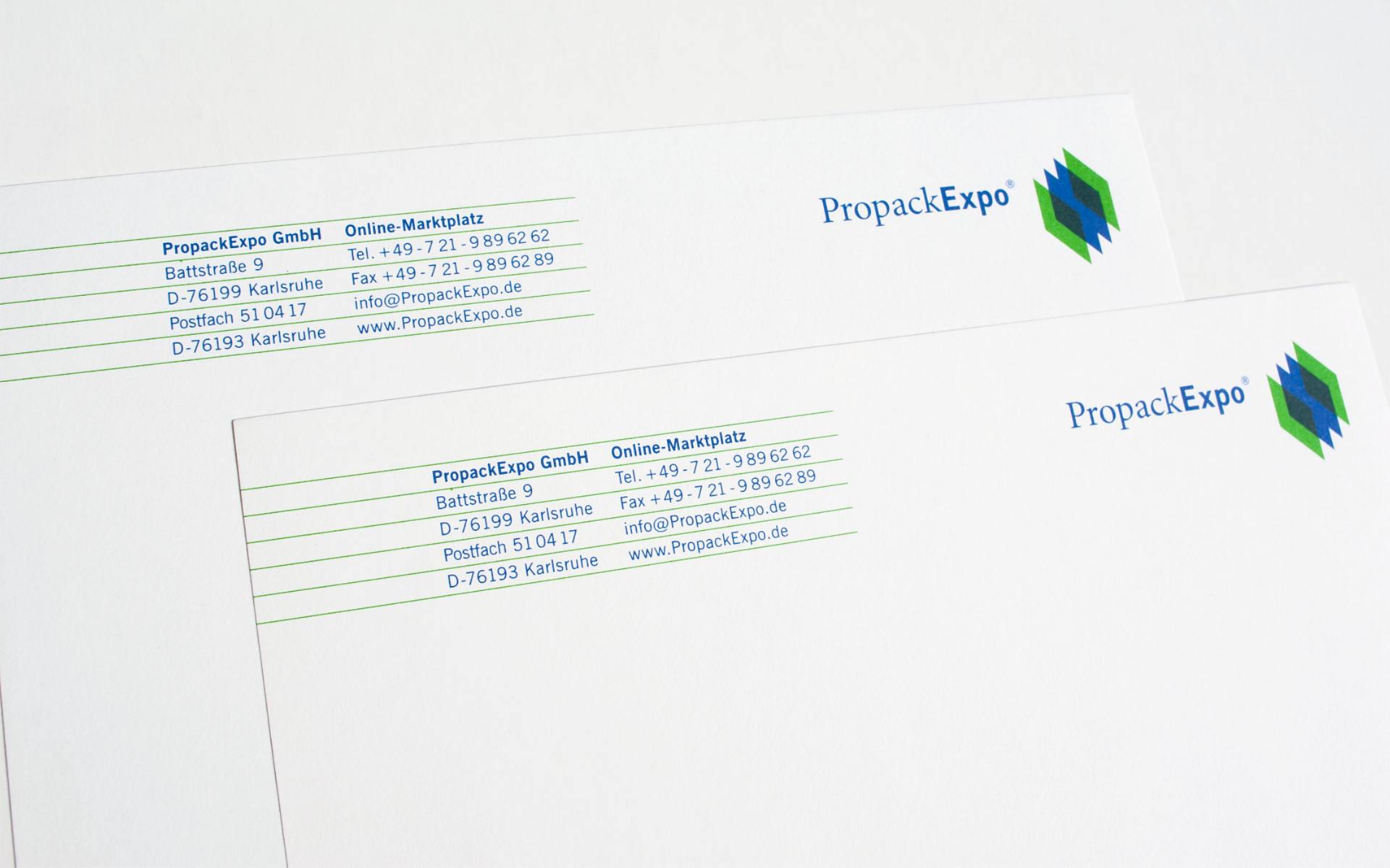 PropackExpo Briefbogen Logodesign