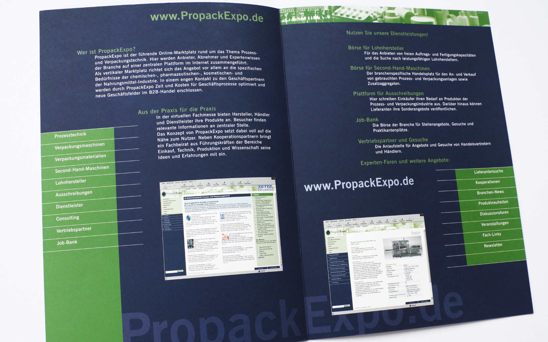 PropackExpo Imagebroschuere Design