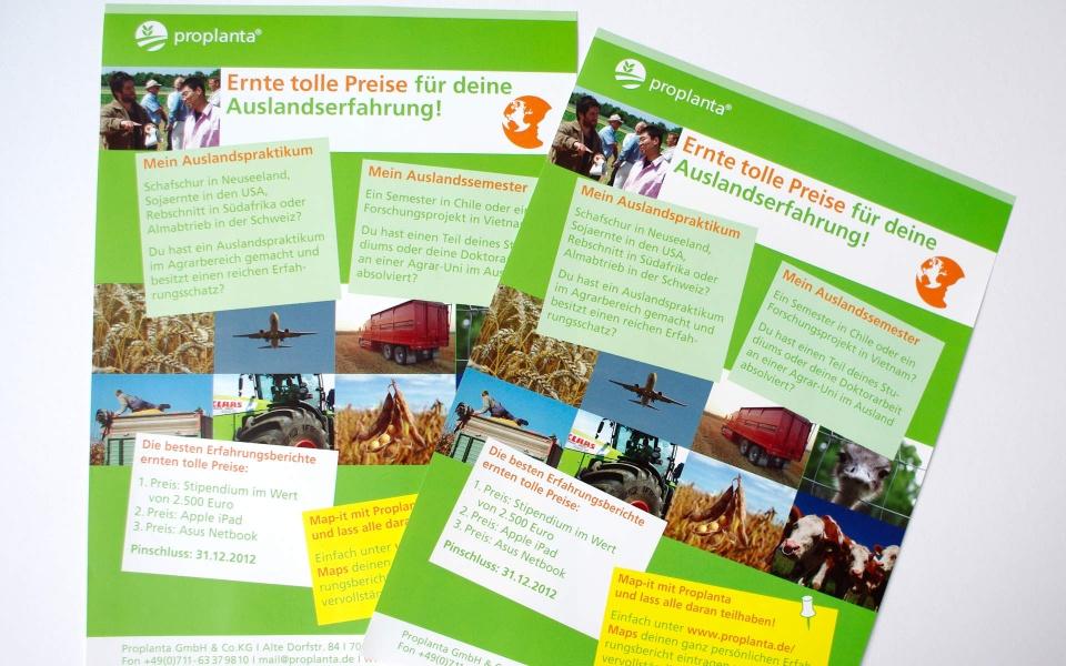 Proplanta Informationsblatt Grafik Design