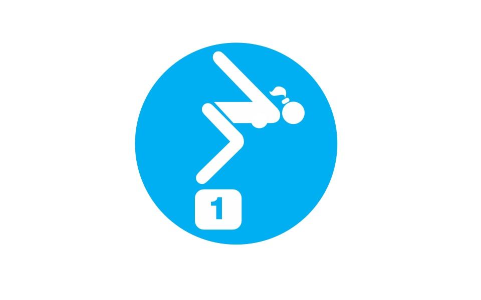 Regenbogenforellen eV Logoentwicklung Schwimmverein