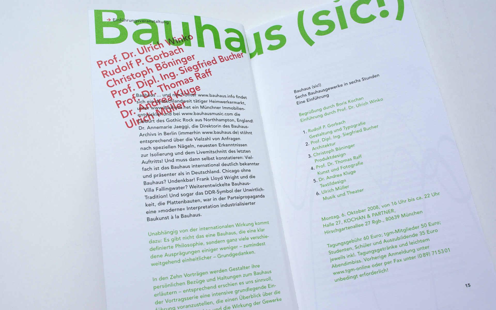 TGM Buchgestaltung Grafik Design