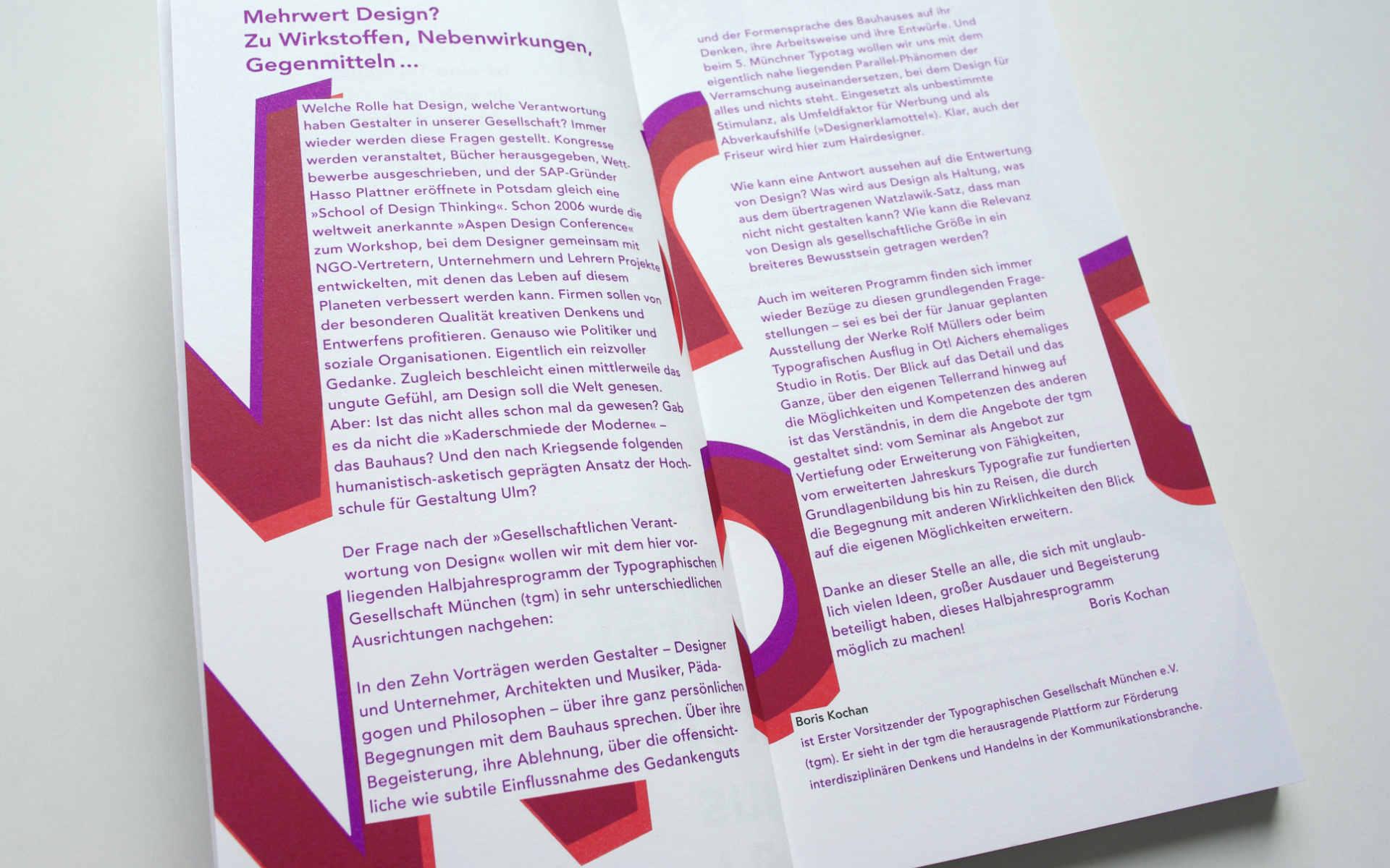 TGM Programm Typografie Grafik Design