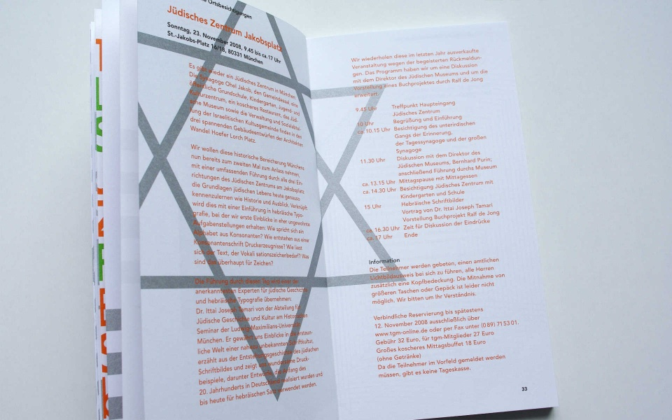 TGM Typografische Gesellschaft Buchdesign Typografie