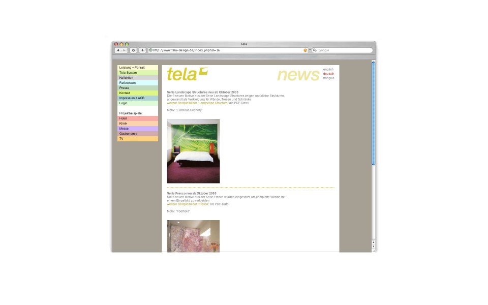 Tela Website Shop Webpage Berlin