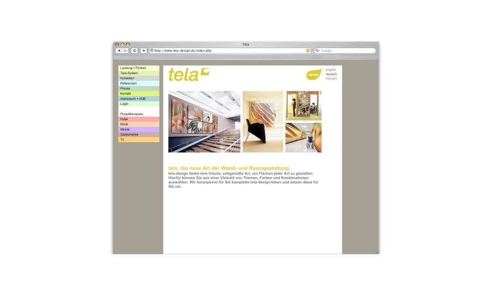 Tela Website Web Shop