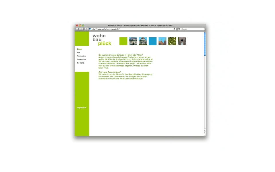 Wohnbau Plueck Website CMS System