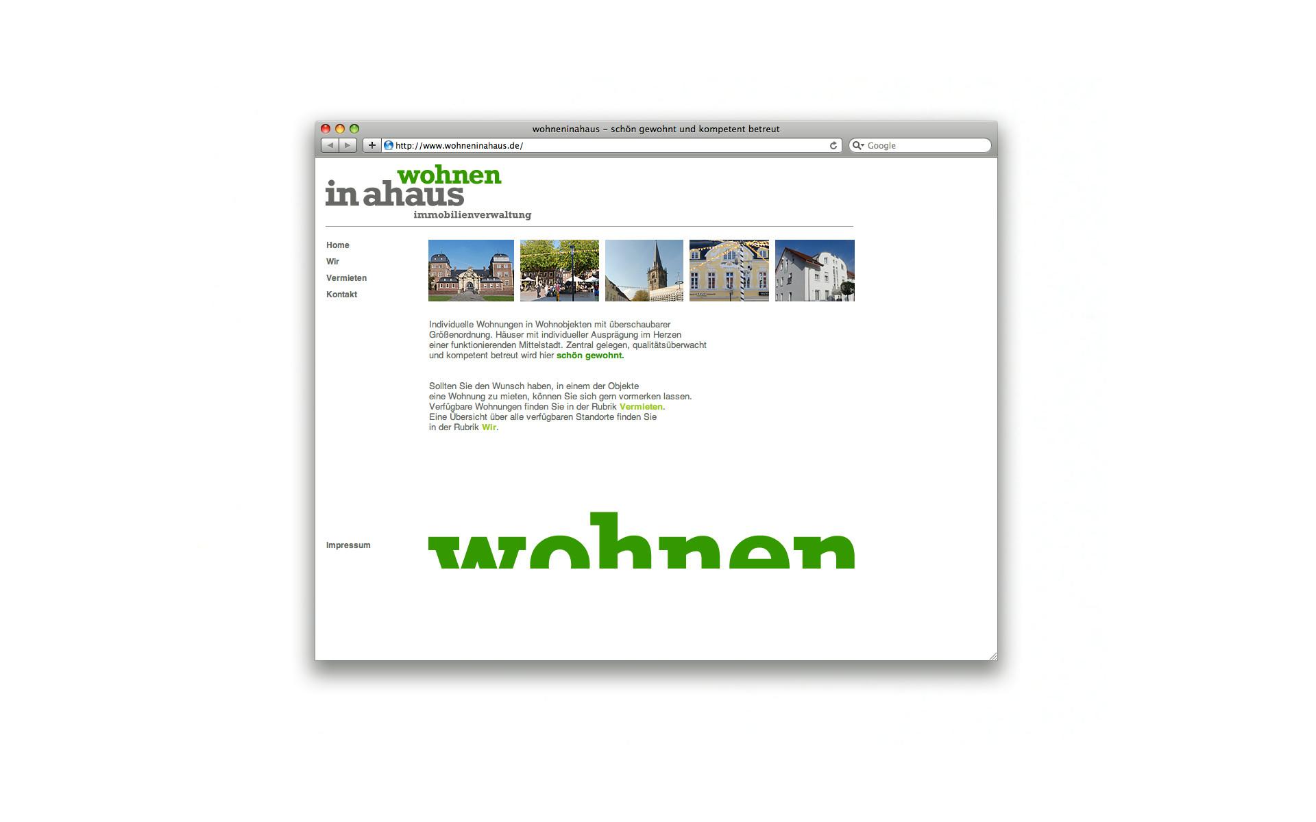 Wohnen in Ahaus Website Webdesign CMS System