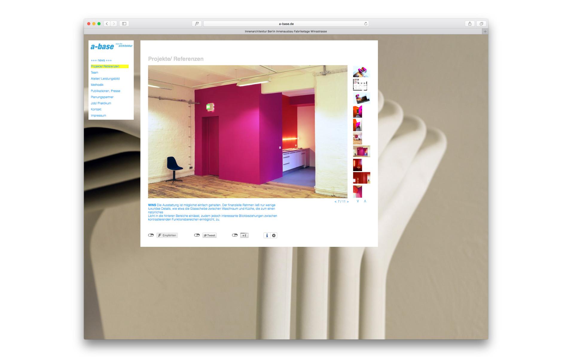 abase Architekten Webgestaltung Website Berlin