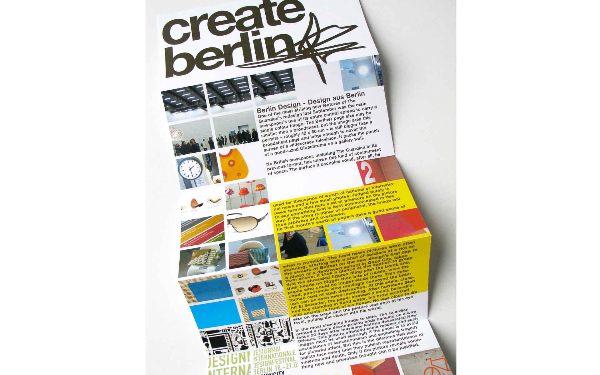 Create Berlin Corporate Design Broschuere