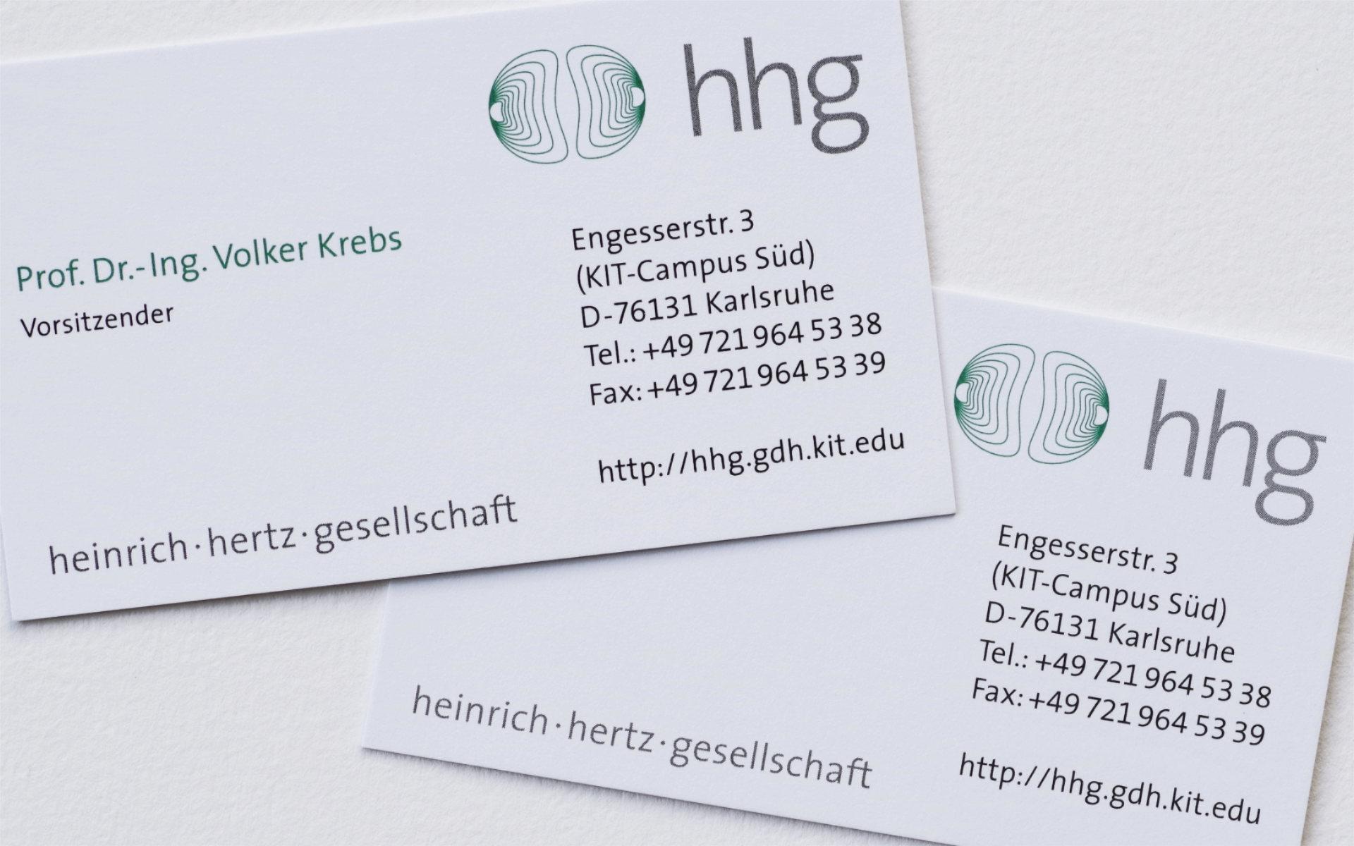 Heinrich Hertz Gesellschaft Briefausstattung Logoentwicklung