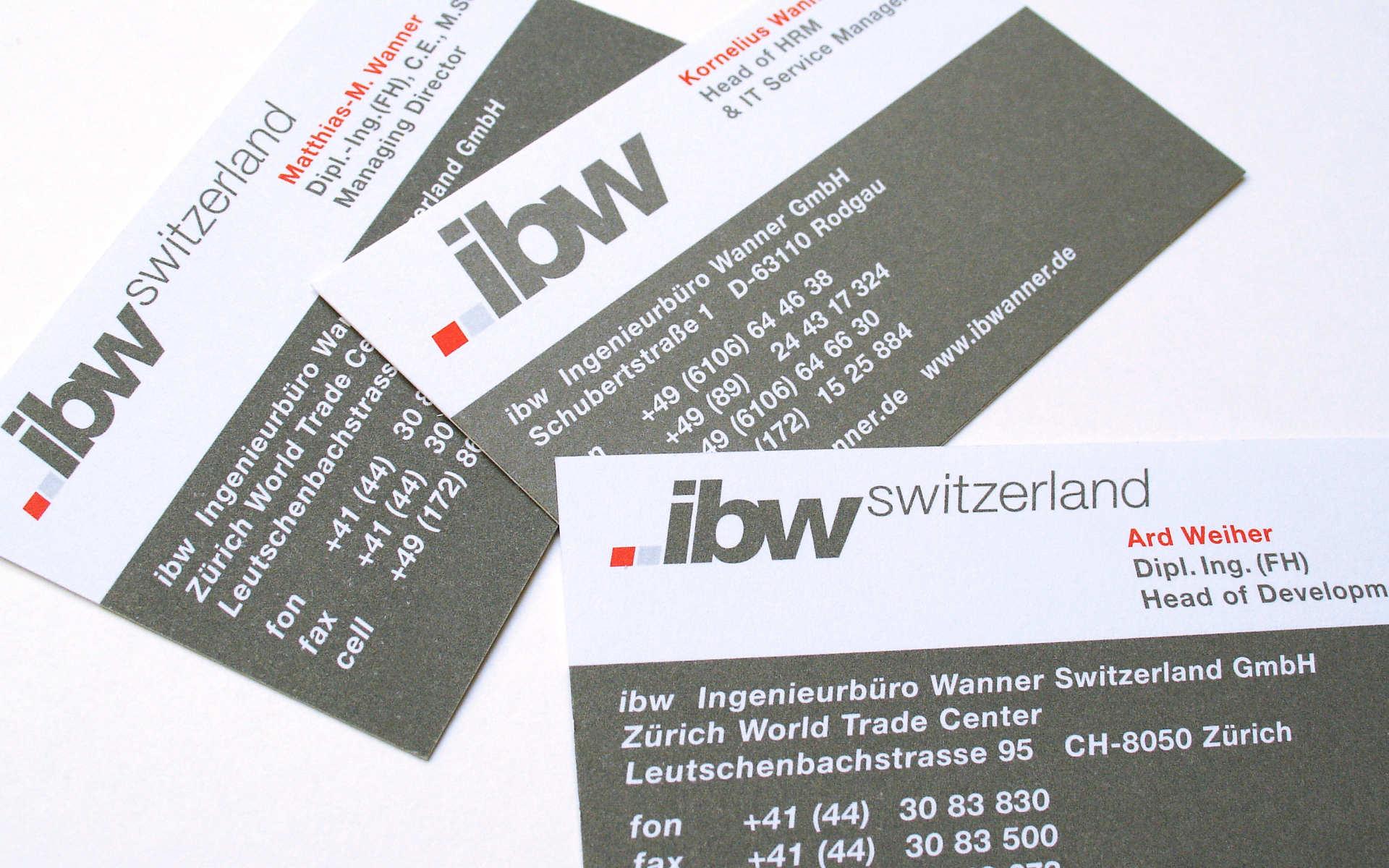 IBW Erscheinungsbild Kommunikation Visitenkarten Logoentwicklung