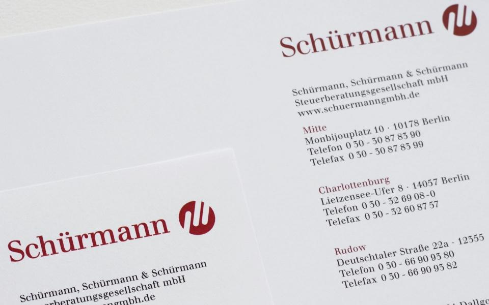 Schuermann Steuerberatung Logoentwicklung Visitenkarten