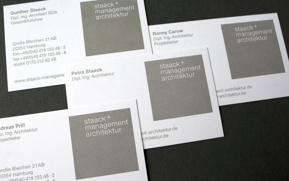 Staack Visitenkarten Grafik Design Logoentwicklung Berlin