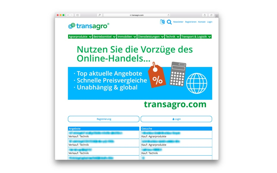 transagro Internet design Icon design Berlin