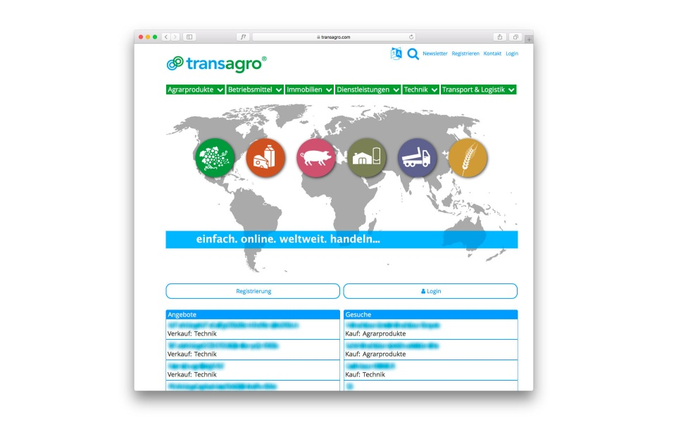 transagro Webdesign Icondesign Berlin