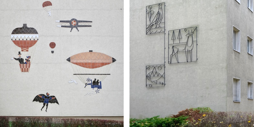UV2 Berlin Fassadengestaltung Werbung Kunst am Bau