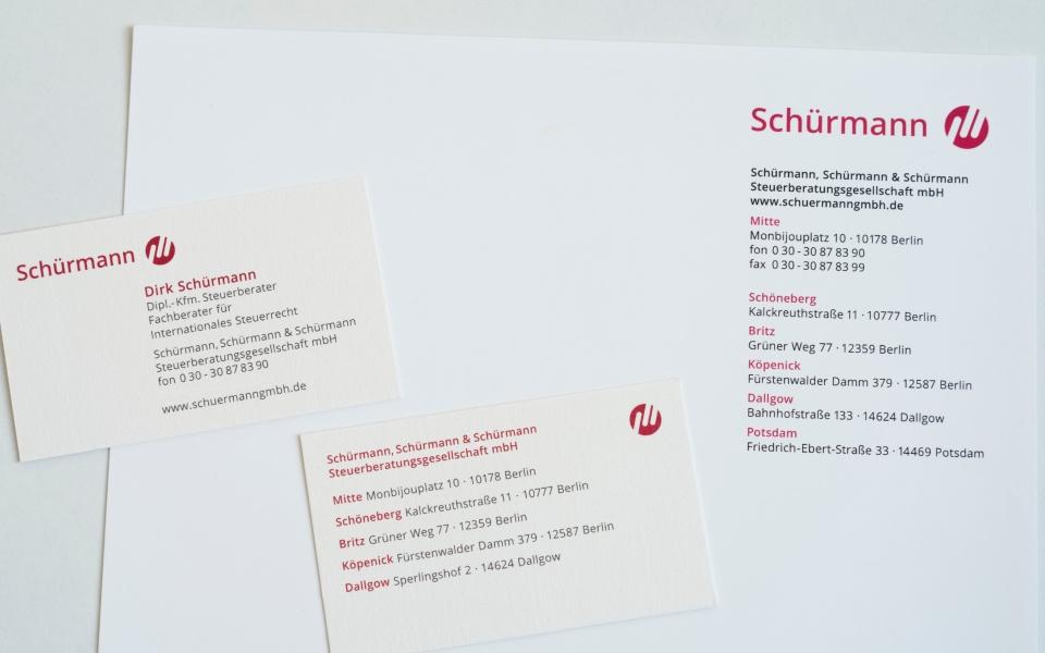 Schuermann Steuerberater Brief Logoentwicklung Design Berlin