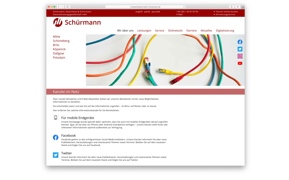 Schuermann CMS System Webdesign Webpage Website Berlin