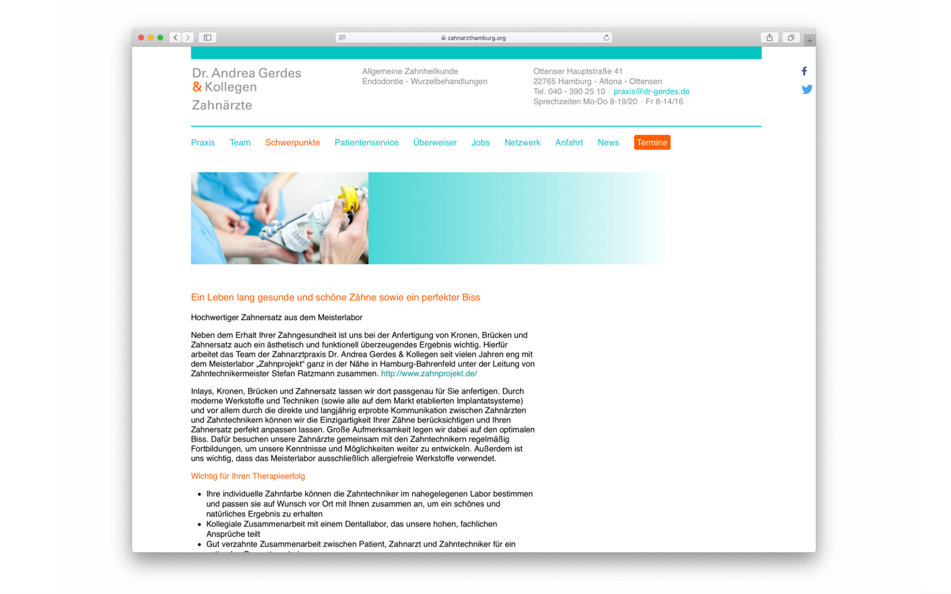 Arztpraxis Corporate Design Webauftritt Design Berlin UV2