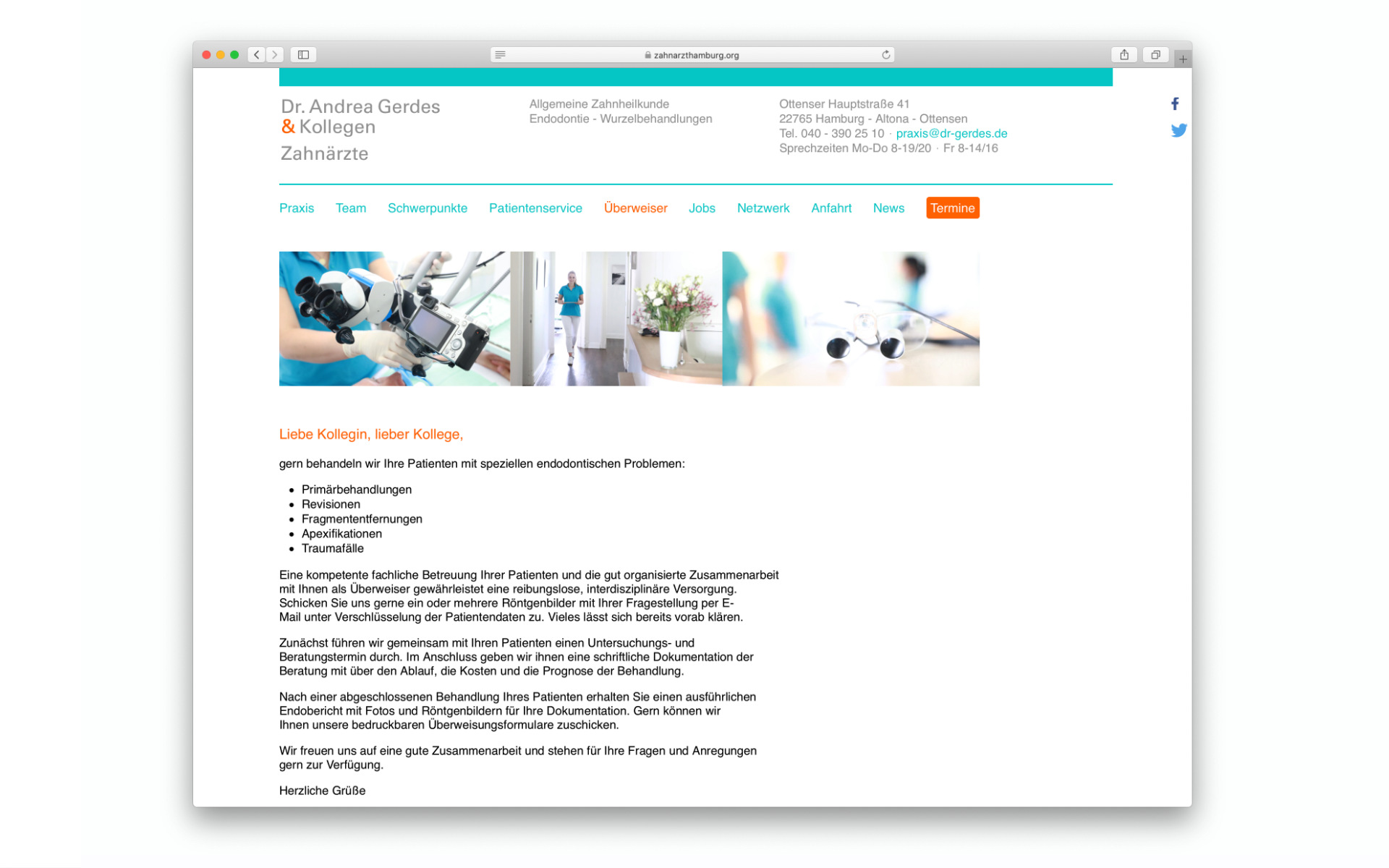 Arztpraxis Corporate Design Webauftritt Website Berlin UV2