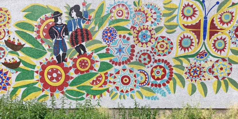Design Fassadengestaltung Beschilderung Berlin UV2 Mosaik
